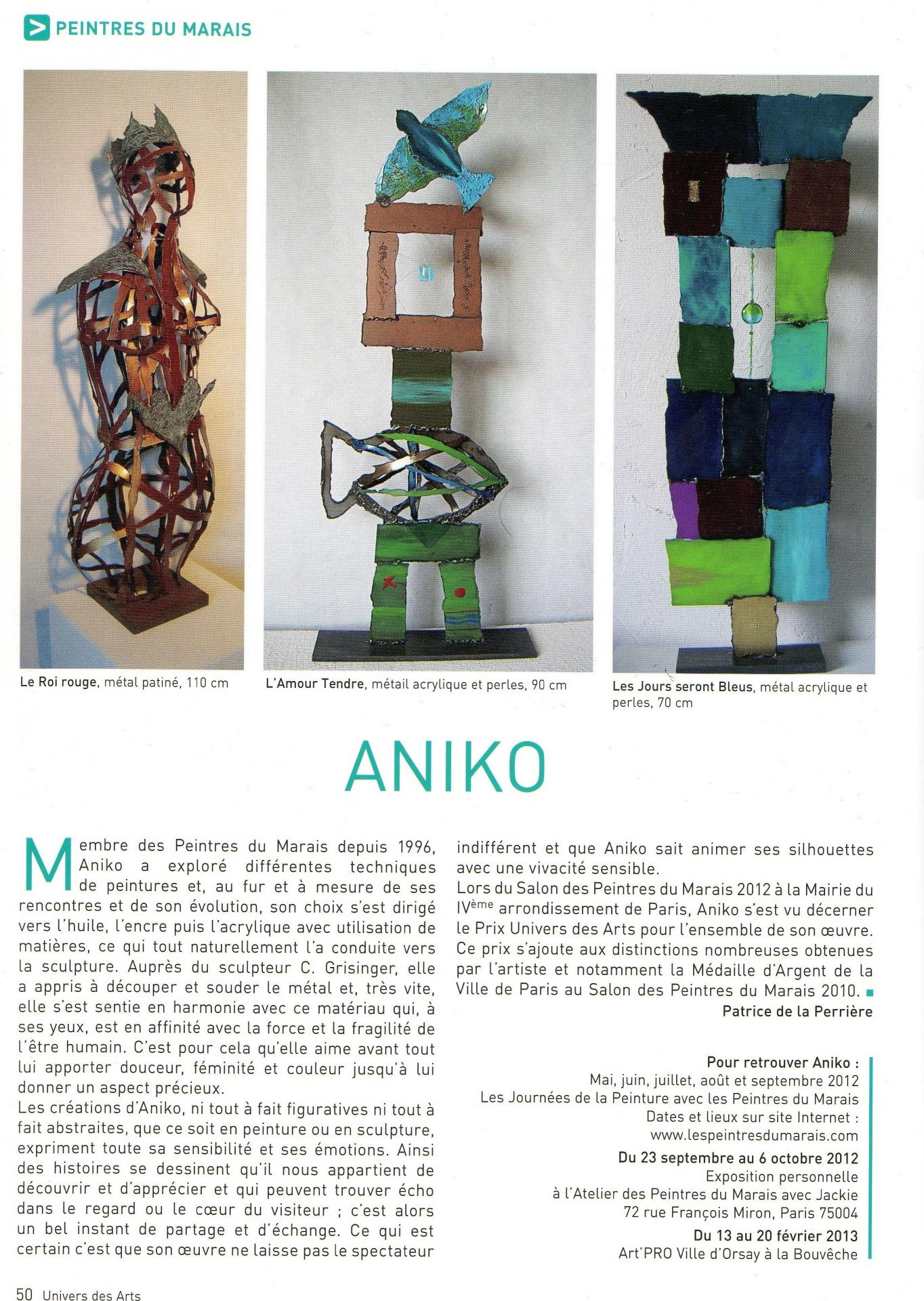 article Univers des Arts